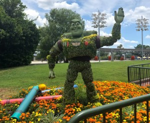 2019 Epcot Flower and Garden Festival. Buzz Lightyear. Vivacious Views