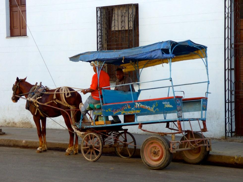 Public wagons in Cienfuegos