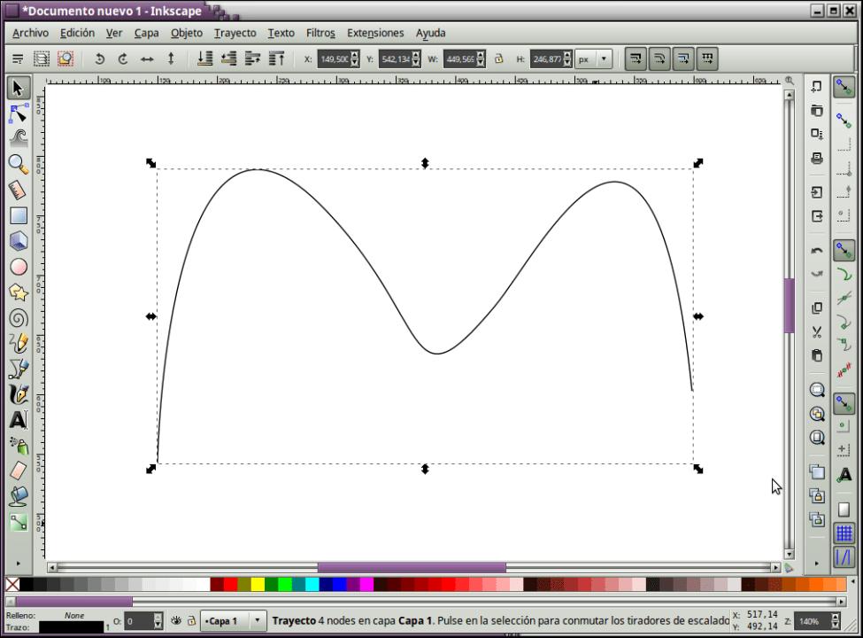 Ejemplo de línea curva