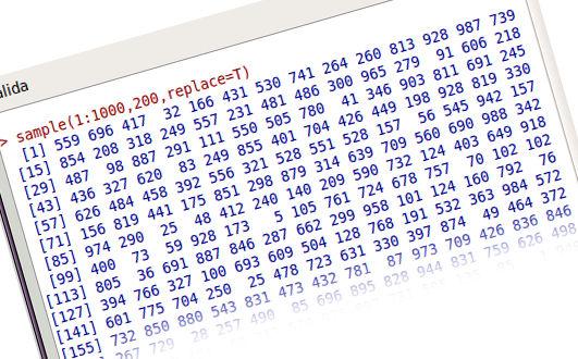 Genera números aleatorios en R con las funciones sample y runif