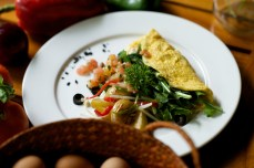 Arugula Omelette with Potatoes