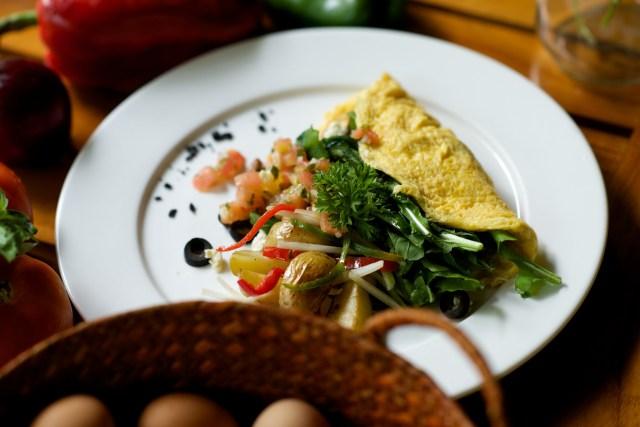Arugula Omelette with Potatoes