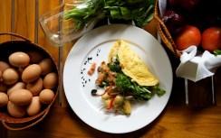 Farm Fresh Arugula Omelette