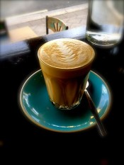 Latte at Shenkin Kitchen, Enmore Road, Newtown. Beautiful coffee, quirky little cafe, Newtown vibe.