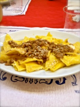 Traditional Ragú at the festival in Sassoleone.