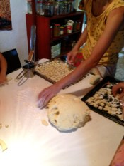Dough should form a nice ball, not too sticky.