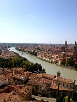 View from the top of Castel San Pietro in Verona.
