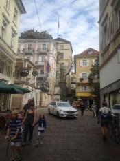 Walking the streets of Baden-Baden.