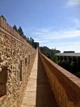 Old walls of Girona.