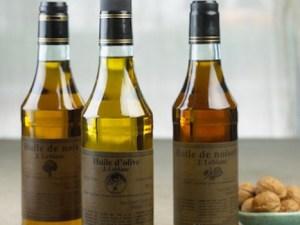 bottles of J LeBlanc Walnut Oil