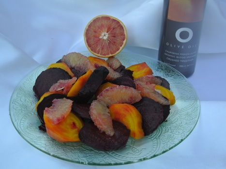 blood orange oil and beets
