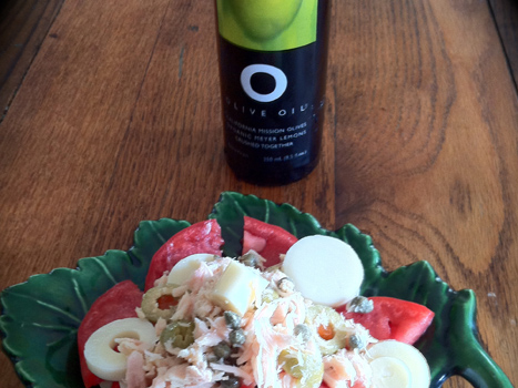 Meal with Meyer Lemon Olive Oil