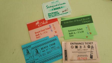 Curaçao ~ Beach tickets   Admissão das praias