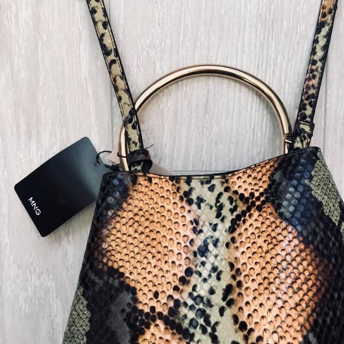 snake skin print bag