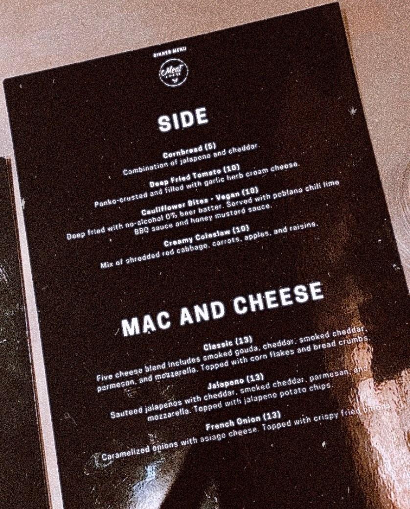 sides & Mac menu