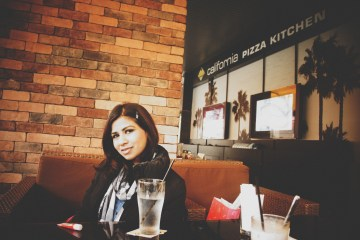 Lunch at California Pizza Kitchen, Taipei, Taiwan