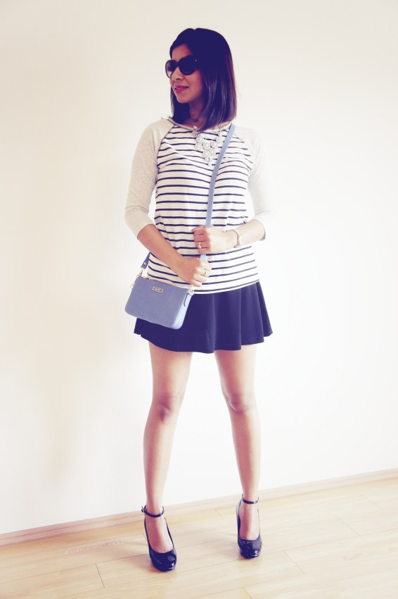 Forever 21 skirt and t-shirt