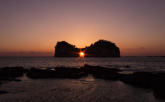 sunset at Engetsu islet, Shirahama