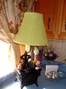 The unused sweater becomes a used lampshade