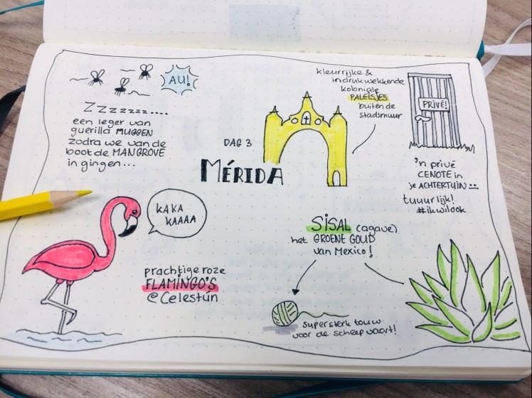 Sketchnotes op vakantie - Travel journal voorbeeld 3