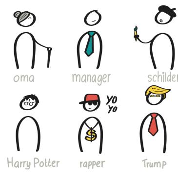 Zakelijk Tekenen - Poppetjes: karakters maken