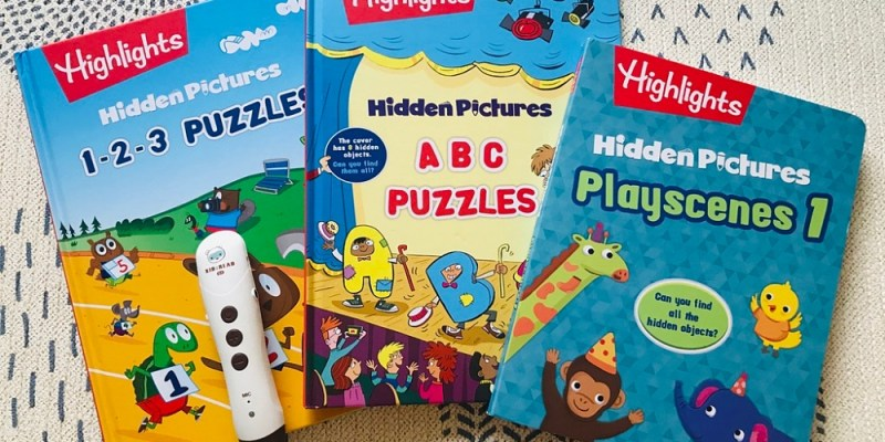 兒童英文教材|Highlights|Hidden Pictures|訓練觀察力:英文找找點讀遊戲書|KidsRead點讀筆