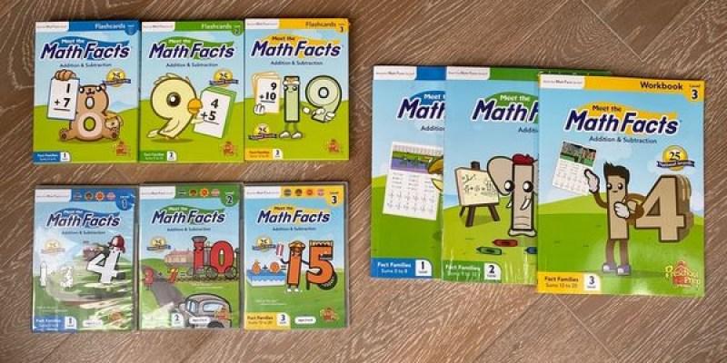 【書櫃】洗腦兼刷題!來看看美式數學的邏輯(Math Facts加減法篇) |Preschool Prep