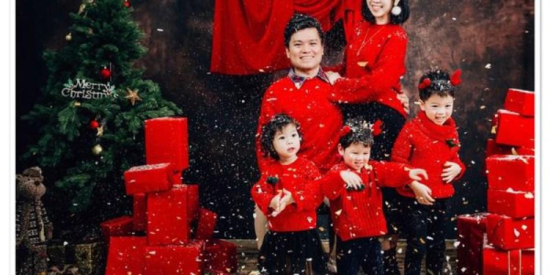 【寫真】聖誕喜慶風♡結婚8週年全家福+龍鳳2歲紀念♡可愛麵包店@上海Queen's Baby