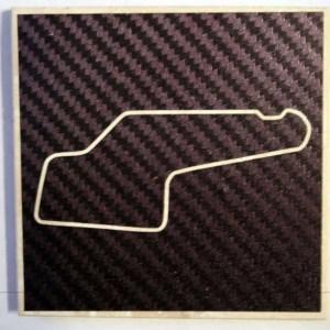 Watkins Glen NASCAR track coaster
