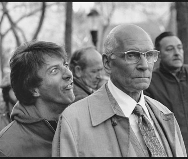 Dustin Hoffman And Laurence Olivier On The Set Of Marathon Man