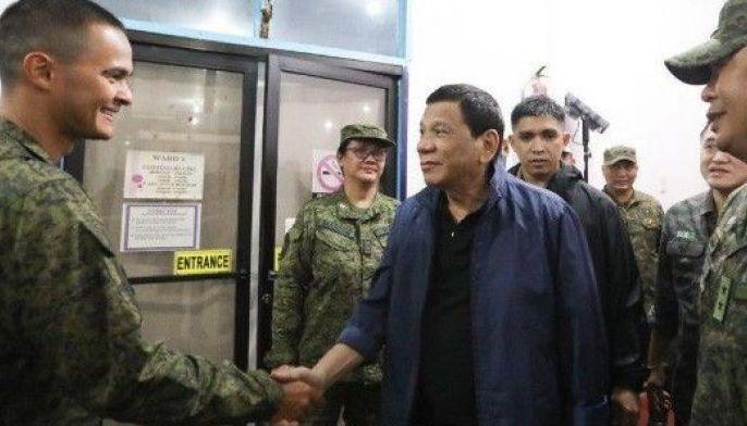 Mateo Guidicelli and President Rodrigo Duterte