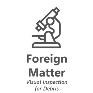 Web store icon for Foreign Matter material test.
