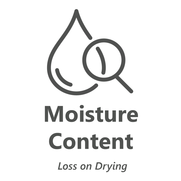 Web store icon for Moisture Content in cannabis material test.