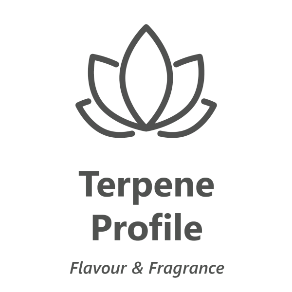 Web store icon for Terpene profile in cannabis chemistry test.