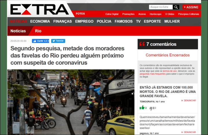 Jornal Extra – 25-5-2020