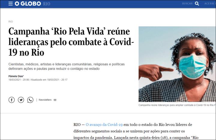 Jornal O Globo – 18-3-2021
