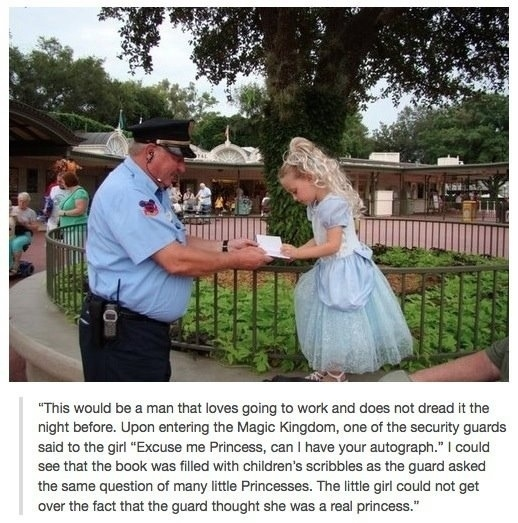 The Disney security guard who is amazing at his job