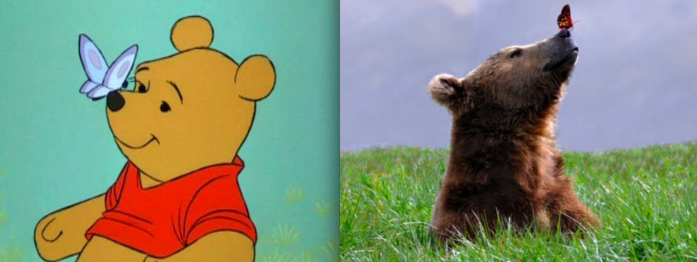 """""""Winnie the Pooh"""" - Pooh and a butterfly"""