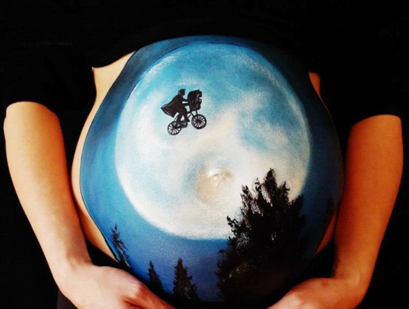 pregnant bump painting carrie preston 16