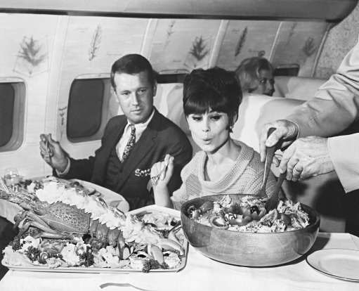 Serviço de bordo nos anos 60