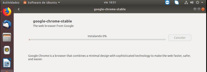 instalar chrome en ubuntu barra de progreso
