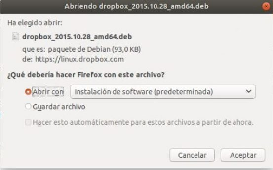 instalar dropbox en ubuntu 18.04 abrir fichero descarga