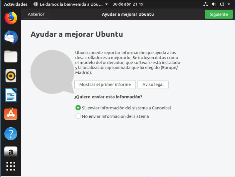 instalar ubuntu 19.04 ayudar a mejorar