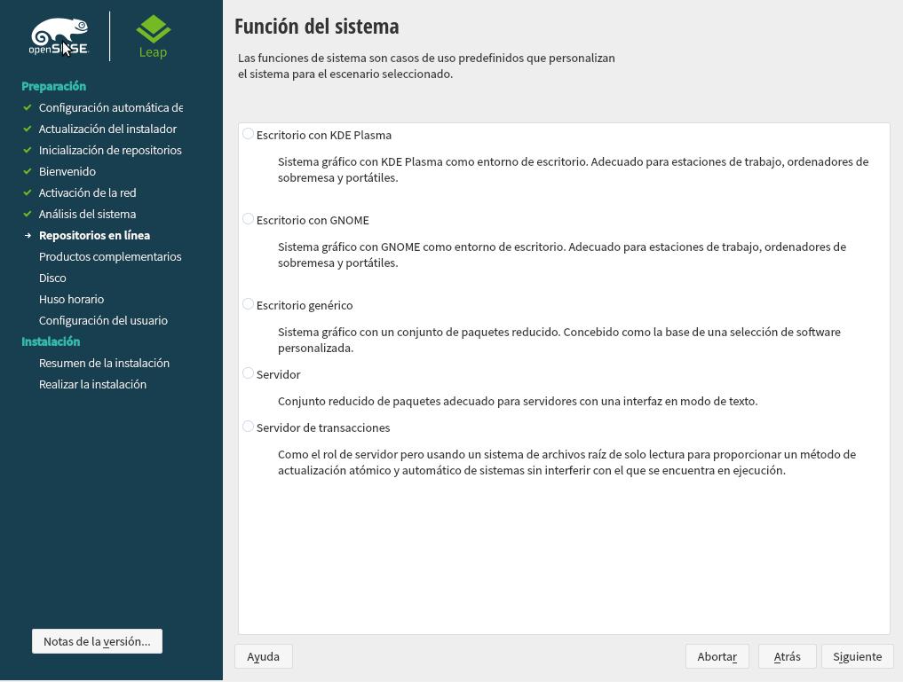 instalar-open-suse-Funcion-de-sistema