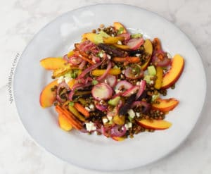 Picture of warm organic lentil salad recipe