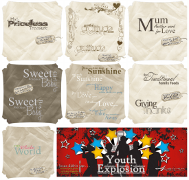 MISC – SCRAPBOOKING WORD ART – YOUTH PROJECT