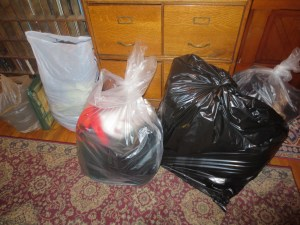 This is stuff either on auction, trash, or to donate. This is all Zeb, Cato and Minion.