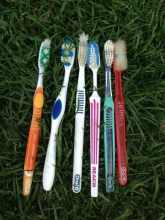 Gross toothbrushes. TRASH.