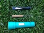 Broken fan, icepick, old flashlight TRASH