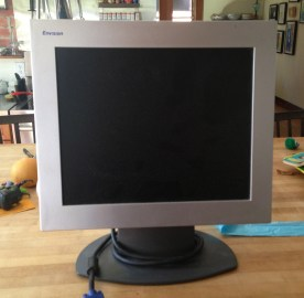 """17"""" monitor, needs a DCIII cord which I accidentally purged. Oops. But there are tons of them out there, everywhere FREECYCLE."""